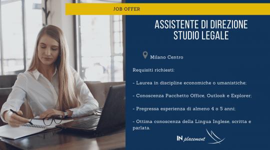 Assistente di Direzione - Studio Legale
